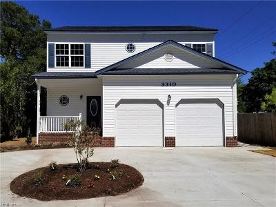 Norfolk Single Family Home For Sale: 3310 Sewells Point Rd