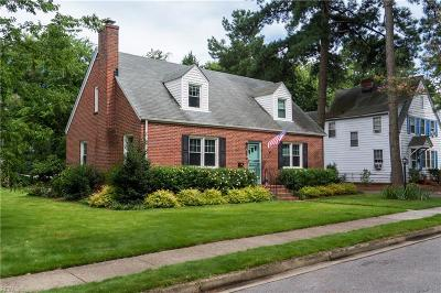 Norfolk Single Family Home For Sale: 6240 Powhatan Ave