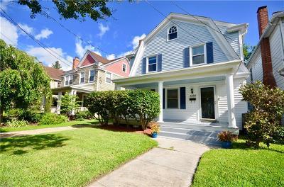 Norfolk Single Family Home For Sale: 1356 Monterey Ave