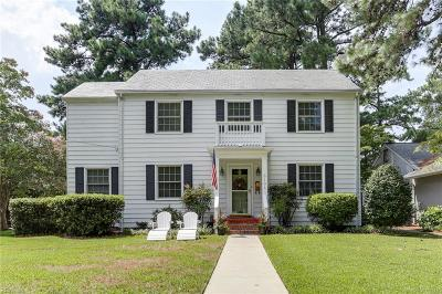 Norfolk Single Family Home For Sale: 5101 Powhatan Ave