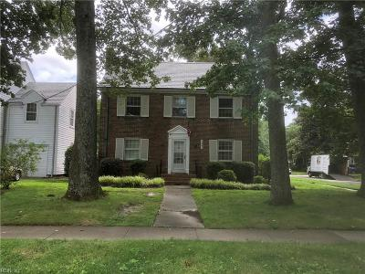 Norfolk Single Family Home For Sale: 1447 Bolling Ave