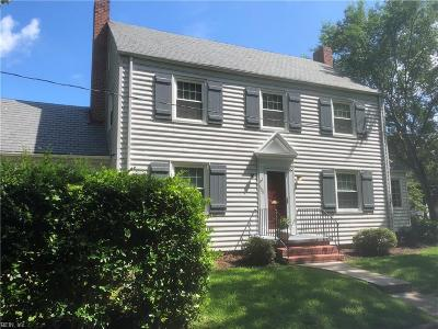 Norfolk Single Family Home For Sale: 1600 Cedar Ln
