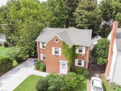 Norfolk Single Family Home For Sale: 1430 Monterey Ave