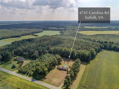 Suffolk Single Family Home New Listing: 4741 Carolina Rd