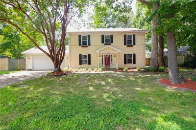 Virginia Beach Single Family Home New Listing: 1801 Timberwood Ln