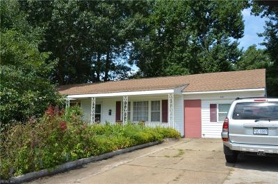 Virginia Beach Single Family Home New Listing: 441 Chisholm Dr