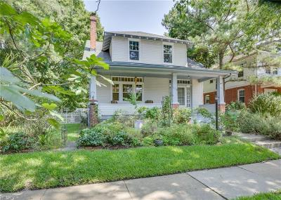 Norfolk Single Family Home New Listing: 518 New Jersey Ave