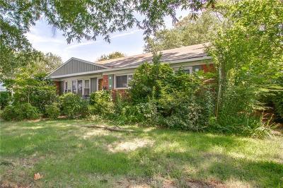 Norfolk Single Family Home New Listing: 8136 Halprin Dr