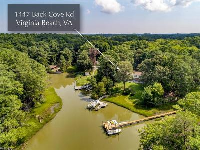 Virginia Beach Single Family Home For Sale: 1447 Back Cove Rd