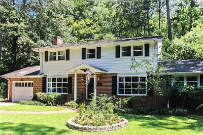 Virginia Beach Single Family Home New Listing: 616 Pinetree Dr