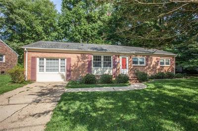 Newport News Single Family Home New Listing: 137 Longfellow Dr