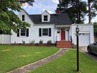 Portsmouth Single Family Home New Listing: 4215 Winchester Dr