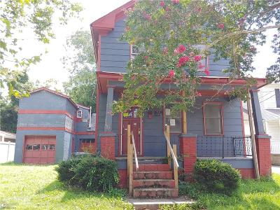 Newport News Single Family Home New Listing: 822 28th St