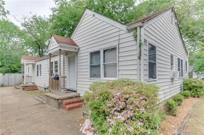 Norfolk Single Family Home New Listing: 852 48th St