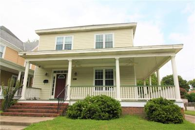 Norfolk Single Family Home New Listing: 834 49th St