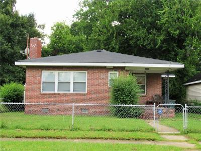 Norfolk Single Family Home New Listing: 2213 Hanson Ave