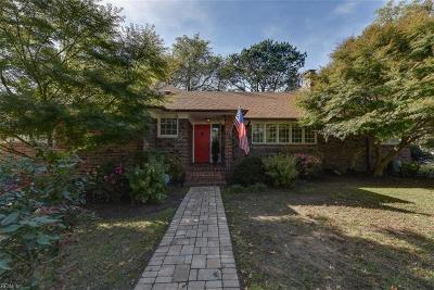 Norfolk Single Family Home New Listing: 7337 Shirland Ave