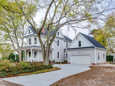 Norfolk Single Family Home New Listing: 1106 A Lexan Ave