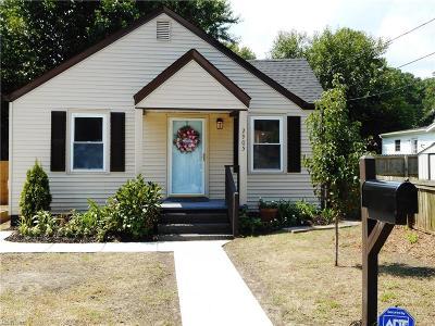 Chesapeake Single Family Home New Listing: 2905 Eustis Ave