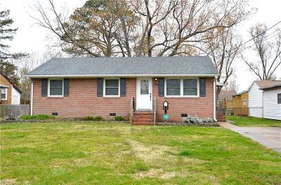 Hampton Single Family Home New Listing: 502 Persimmon Ct