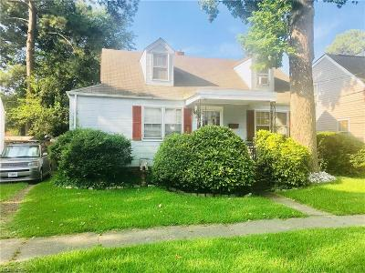 Norfolk Single Family Home New Listing: 323 Leicester Ave E