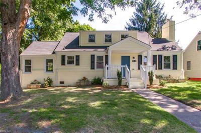 Norfolk Single Family Home New Listing: 3648 Pamlico Cir