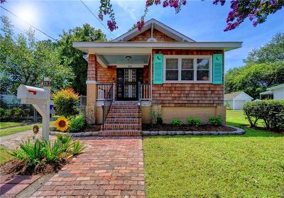 Norfolk Single Family Home New Listing: 813 W 27th Street St