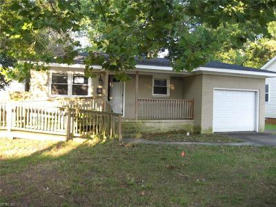 Norfolk Single Family Home New Listing: 1519 Norcova Ave