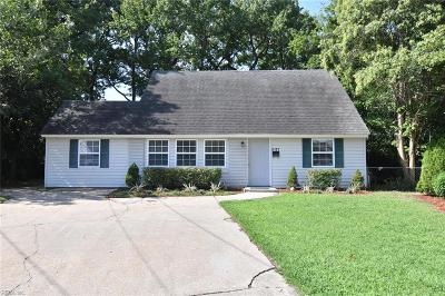 Norfolk Single Family Home New Listing: 6101 Grimes Ct