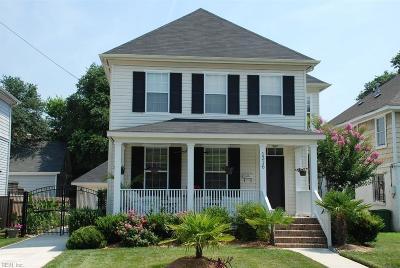 Norfolk Single Family Home New Listing: 1316 Hillside Ave