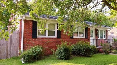 Chesapeake Single Family Home New Listing: 812 Westgate St