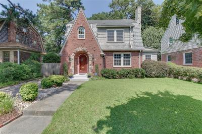 Norfolk Single Family Home New Listing: 1224 Woodrow Ave