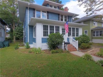 Norfolk Single Family Home New Listing: 726 Delaware Ave