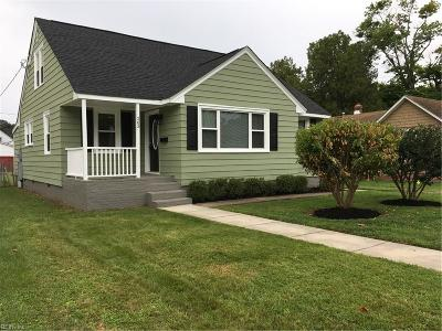 Hampton Single Family Home New Listing: 263 Powhatan Pw