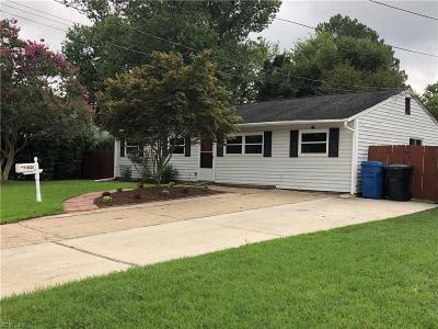 Virginia Beach Single Family Home New Listing: 3521 Wayne St