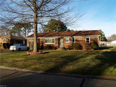 Chesapeake Single Family Home New Listing: 906 Gould Ave