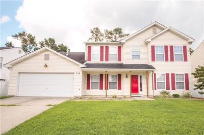 Newport News Single Family Home For Sale: 250 Weatherford Way