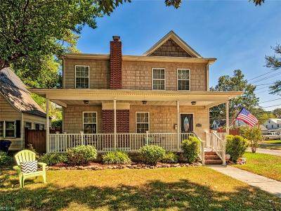 Norfolk Single Family Home For Sale: 9600 Selby Pl