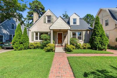 Norfolk Single Family Home For Sale: 6158 Powhatan Ave