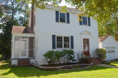Norfolk Single Family Home For Sale: 715 New Jersey Ave