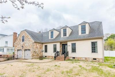 Norfolk Single Family Home New Listing: 413 Pleasant Point Dr