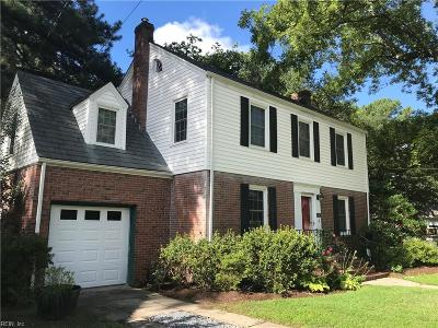 Norfolk VA Single Family Home New Listing: $339,000