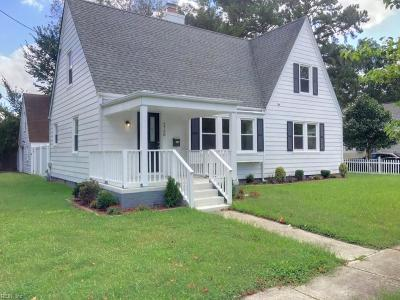 Norfolk VA Single Family Home New Listing: $224,900