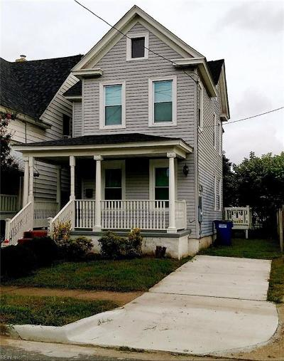 Norfolk VA Single Family Home New Listing: $129,999
