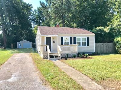 Portsmouth Single Family Home New Listing: 3213 Elliott Ave