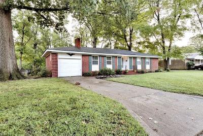 Newport News Single Family Home New Listing: 187 Louise Dr