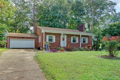 Portsmouth Single Family Home New Listing: 3223 Dogwood Dr