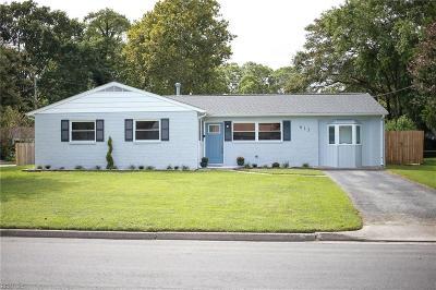 Hampton Single Family Home New Listing: 613 Nottingham Dr