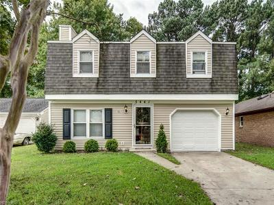 Virginia Beach VA Single Family Home New Listing: $230,000