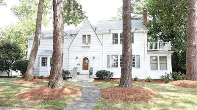 Norfolk Single Family Home For Sale: 7436 Muirfield Rd